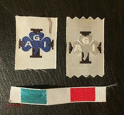 Starting Kit distintivi AGI - female scout badges Italy 1960's