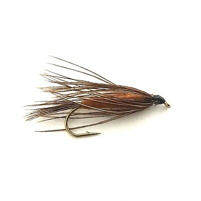 6 x Brown Carey Special Fly Fishing Wet Flies For Trout and Salmon