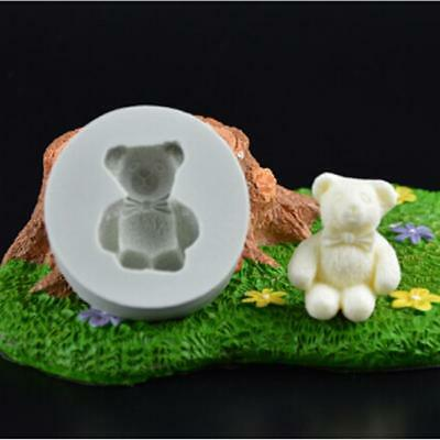 3D Bear Shaped Silicone Mould Fondant Cake Topper Modelling Tools Mold 8C
