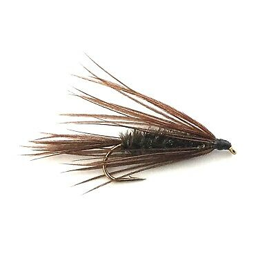 6 x Peacock Carey Special Fly Fishing Wet Flies For Trout and Salmon