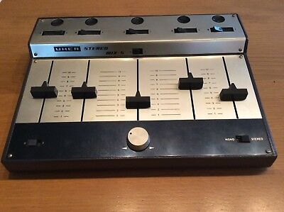 UHER Stereo Mix 5 - A 122 - Made in W-Germany - Mixer im Metallgehäuse
