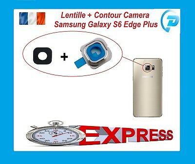 Lentille + Contour Camera Photo Lens Pour Samsung Galaxy S6 Edge Plus Or  G928F