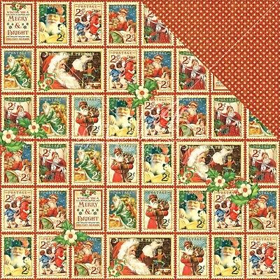 """G45 - St Nicholas - D/Sided Paper 12""""X12"""" - Christmas Cheer (CLEARANCE)"""
