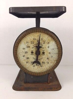 American Family Scale antique vintage rustic farmhouse kitchen measuring 24 lb