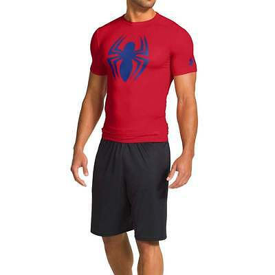 Under Armour Marvel Alter-Ego Spider Man Compression Red/Blue T-Shirt XLarge NWT