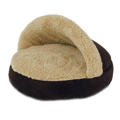 Cama Cozy Snuggle Lamb Marrón para Gatos Área de Descanso Gatitos