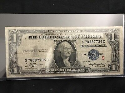 """Fr.1610 1935A $1 """" S """" Experimental Silver Certificate"""