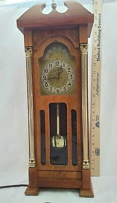 "United Clock Company wall mantle electric Grandfather Clock 20"" T vintage #444"