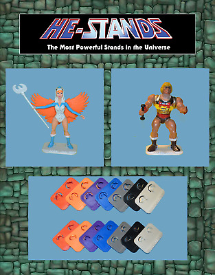 1 HE-STANDS Action Figure Stands For Vintage He-Man Masters of the Universe MOTU