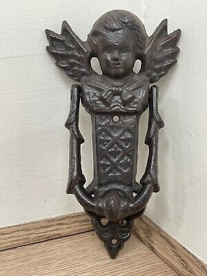Victorian Style Vintage Architectural Hardware Winged Cherub Door Knocker