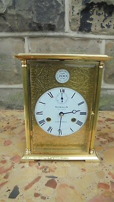 Sewills Liverpool Brass Four Glass Table Mantle Clock