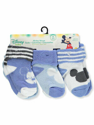 Disney Mickey Mouse Baby Boys' 6-Pack Ankle Socks
