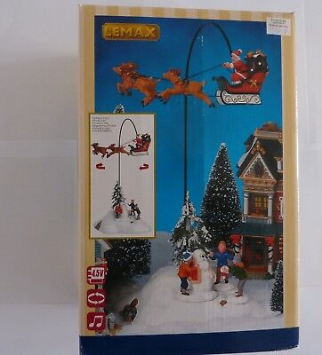 Lemax Christmas Village Santa Claus Is Coming To Town With 4.5V Adaptor - 54353