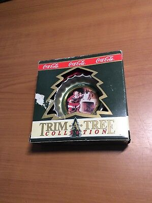 1990 Coca-Cola Trim-A-Tree Bottle Cap Tree Ornament With Box