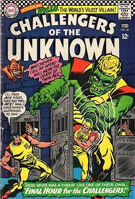 CHALLENGERS OF THE UNKNOWN #50  Silver Age   DC Comics 1966 Fine