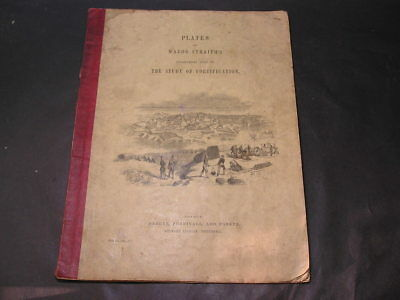 c1850 Major Straiths Book Study of Fortification Parker Furnivall & 5 Plates
