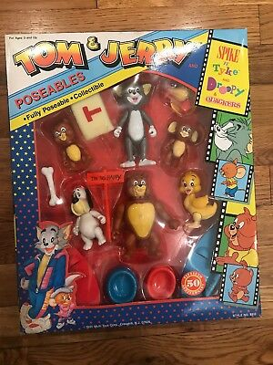 Tom & Jerry Poseables 50th Anniversary 1990 RARE FIND