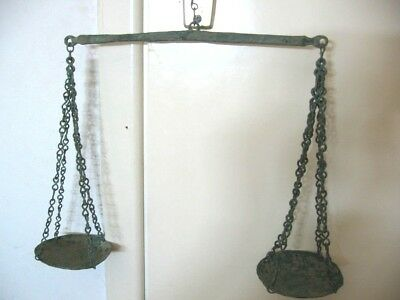 ANCIENT ROMAN BRONZE WEIGHT SCALE FROM VILLA RUSTICA 1-2 ct. AD
