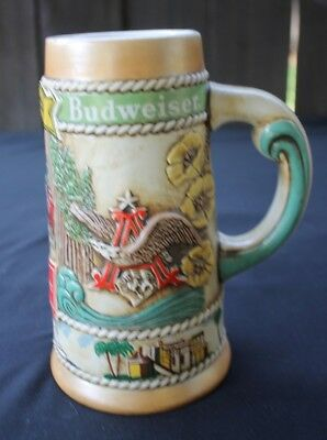 1981 Budweiser Beer Stein California CS56 Ceramarte Brazil Limited Edition Mint