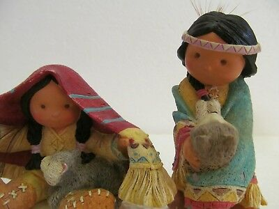 Enesco Friends Of the Feather Figurines BROTHERS OF THE EARTH DANCES WITH WOLF