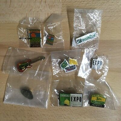 John Deere Lapel & Hat Pins,Ag,Turf & Industrial Themes, Lot of 9, No Duplicates