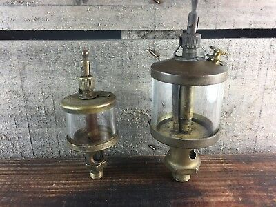 Vintage G. B. Essex Co & Unmarked Lubricator, Hit Miss Engine Steampunk