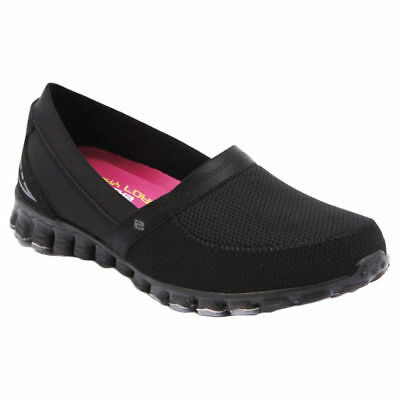 NEW Skechers Ez Flex Take It Easy Womens Memory Foam Casual Slip On Shoes Black