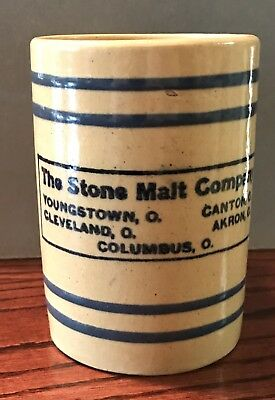 Stone Malt Company PRE PRO BEER MUG Ohio - Youngstown, Cleveland, Canton, Akron