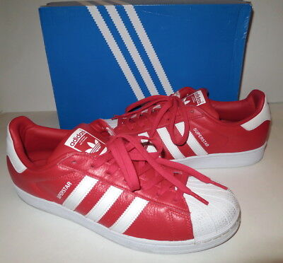 Authentic ADIDAS ORIGINALS SUPERSTAR RED 3 STRIPES SNEAKERS SHOES BB2240 10.5
