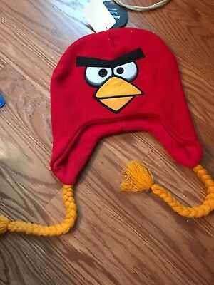 BAD PIG ANGRY BIRDS~KNIT LAPLANDER~SKI~NORDIC-STYLE WINTER HAT~STOCKING CAP~NWT
