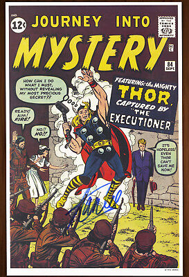 Stan Lee Signed Autographed Journey Info Mystery #84 poster, art print 1993 Thor