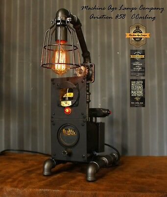 Steampunk Machine Age Lamps Aviation Lamp Directional Gyro Comp Lighting Wwii