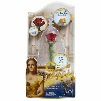New In Box - BEAUTY AND THE BEAST: Enchanted Rose Jewelry/Music Box