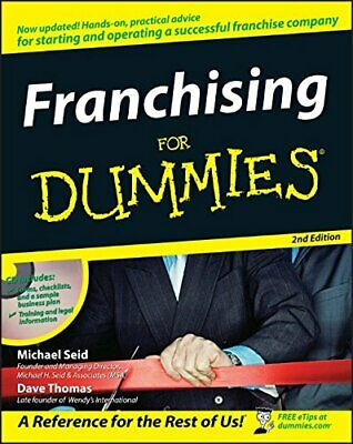 Franchising for Dummies, 2nd Edition by Thomas, Dave Paperback Book The Cheap