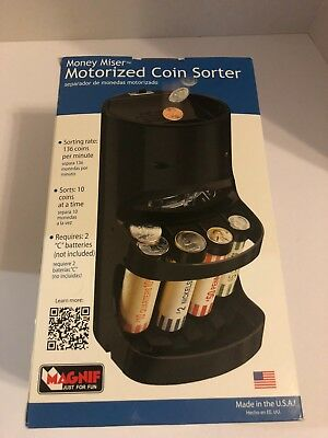 Magnif Motorized Money Wrapper Coin Sorter USA New