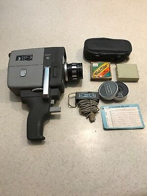 Elmo Zoom Auto Eye 8mm 1960's Movie Camera