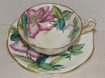 English Bone China teacup and saucer by Rosina