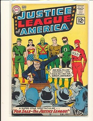 Justice League of America # 8 G/VG Cond. bottom centerfold staple detached
