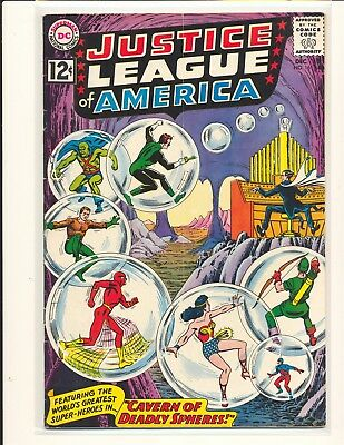 Justice League of America # 16 VG+ Cond. subscription crease
