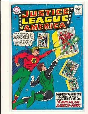 Justice League of America # 22 - Crisis on Earth-Two VG Cond subscription crease