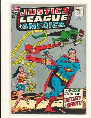 Justice League of America # 25 VG+ Cond. subscription crease