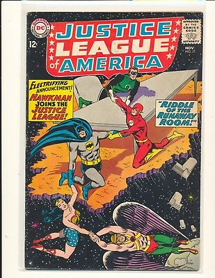 Justice League of America # 31 G/VG Cond. subscription crease
