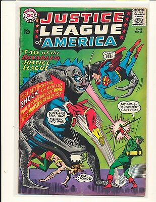 Justice League of America # 36 VG Cond. subscription crease