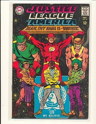 Justice League of America # 57 VG+ Cond. subscription crease