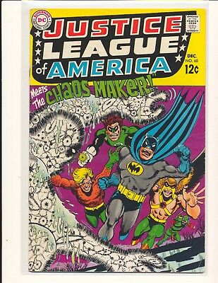 Justice League of America # 68 VG Cond. bottom centerfold staple detached