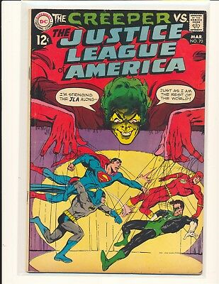 Justice League of America # 70 - Neal Adams cover VG/Fine Cond.