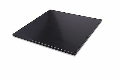 "HDPE Black Plastic Polyethylene Sheets 0.250"" - 1/4"" Thick - You Pick The Size"
