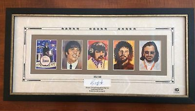 Gartlan Usa Ringo Starr Autograph Retrospect Lithograph Signed /500 The Beatles