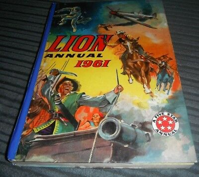 Lion 1961 Annual - Robot Archie Captain Condor Jungle Jef Paddy Payne Swiftfoot