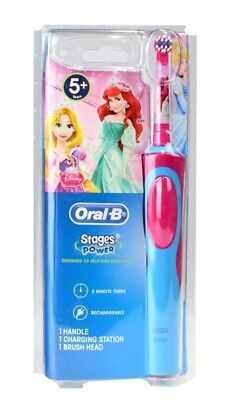 ORAL B KIDS POWER TOOTHBRUSH STAGES SOFT 5+years DISNEY PRINCESS